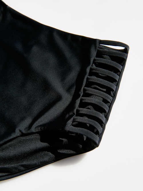 Fekete magas fürdőruha bugyi