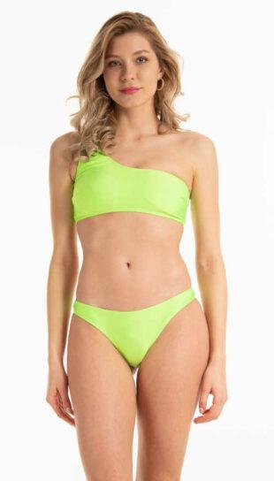 Kellemes anyagból készült pasztell zöld színű bikinitanga