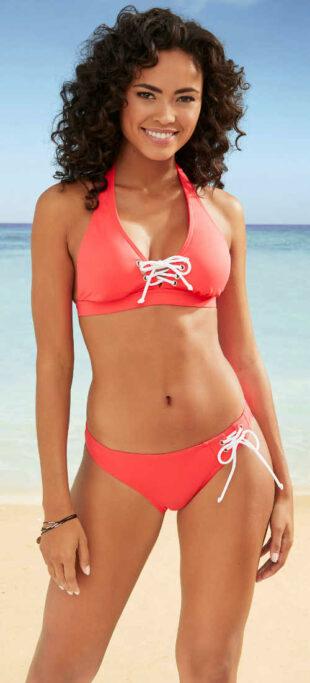 Női sport bikini fűzős melltartóval és bugyival