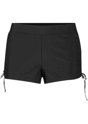 Női fekete úszónadrág integrált alsónadrággal