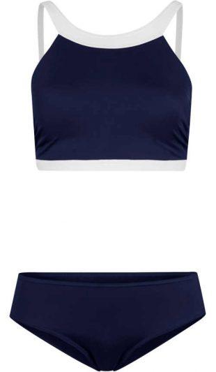 Kék bikini sportmelltartó felsővel