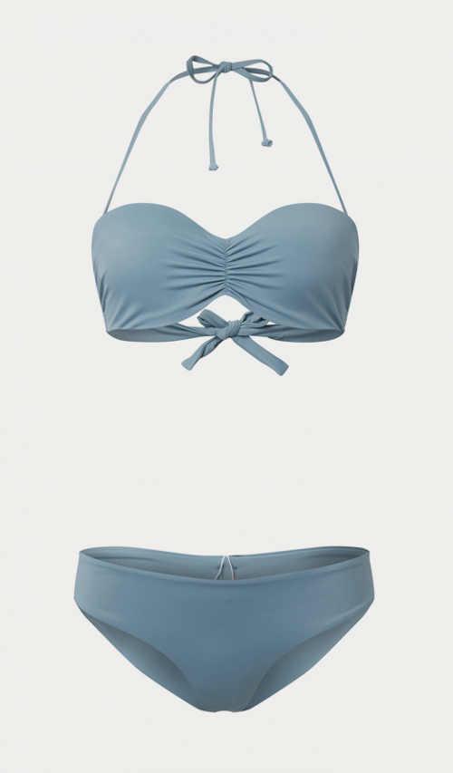 Modern női kétrészes fürdőruha kék színben